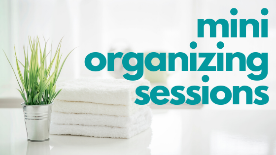 mini organizing sessions - Imagine Blog